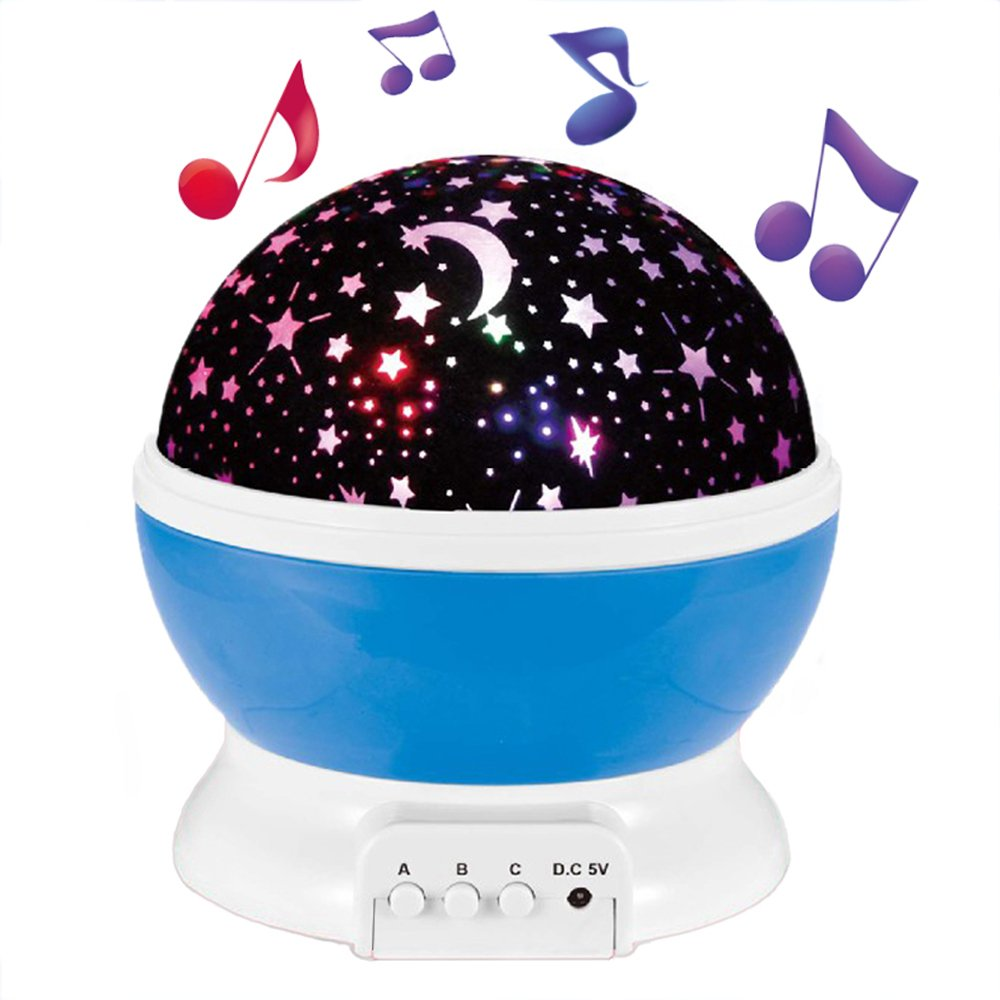 (Newest Version)Baby Night Light Projector, Enkman Baby Sleep Sound Machine Star Sky Night Lamp with 12 Mode Music, 360° Rotating Room Decor for Infant Kids, Nursery Camping Bedroom Christmas Gift
