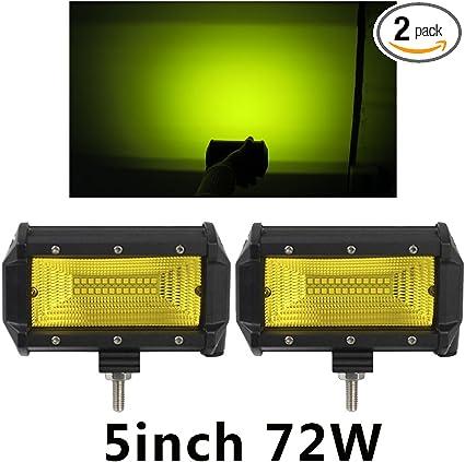 2x 5inch 240W LED Work Light Bar Spot Flood Pods Driving Fog Off-Road Truck 4WD