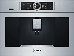 BCM8450UC 24 UL Listed Built-In Coffee Machine with 12 Modes Adjustable Cup Sizes Consistent Brewing Temperature Personalized Beverages Home Connect Child-Proof Lock and Milk Container: Stainless Steel