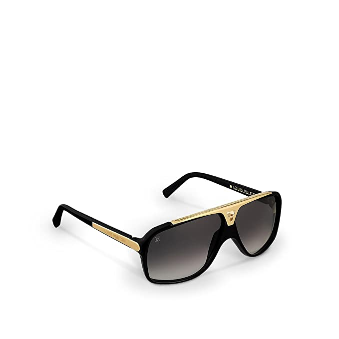 11dbe9174387f Amazon.com: Louis Vuitton Evidence Black Sunglasses Z0350W: Clothing