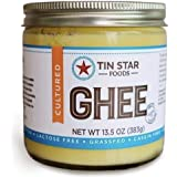 Cultured Grassfed Ghee by Tin Star Foods (13.5 oz): Casein-Free clarified Butter from 100% Grassfed Cows | Paleo and Whole 30 Approved | Lactose-Free