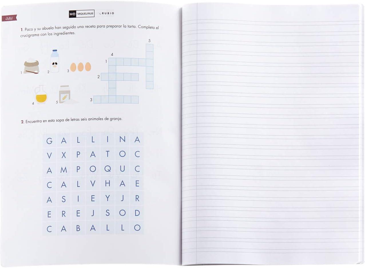 Miquelrius cuaderno con grapa By Rubio A4 Pauta Doble 3 mm 50 hojas: Amazon.es: Oficina y papelería