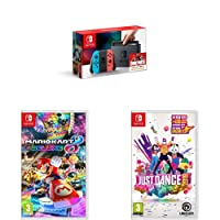 Nintendo Switch + Mario Kart Deluxe 8 + Just Dance 2019
