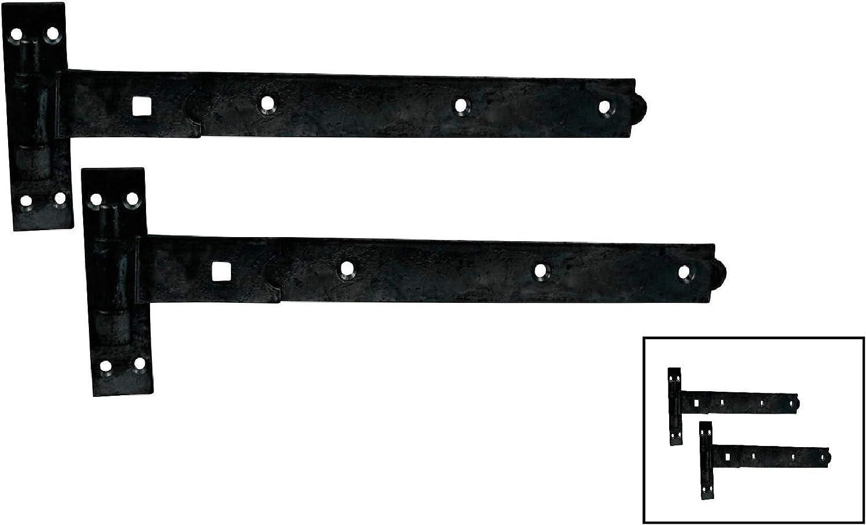 "Medium Tee Charnières 450 mm//18/"" Noir x 5 paires NEUF"