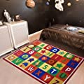 Furnish my Place ABC Alphabet, Seasons, Months Days The Week Educational Learning Area Rug Carpet Kids Children Bedrooms Playroom