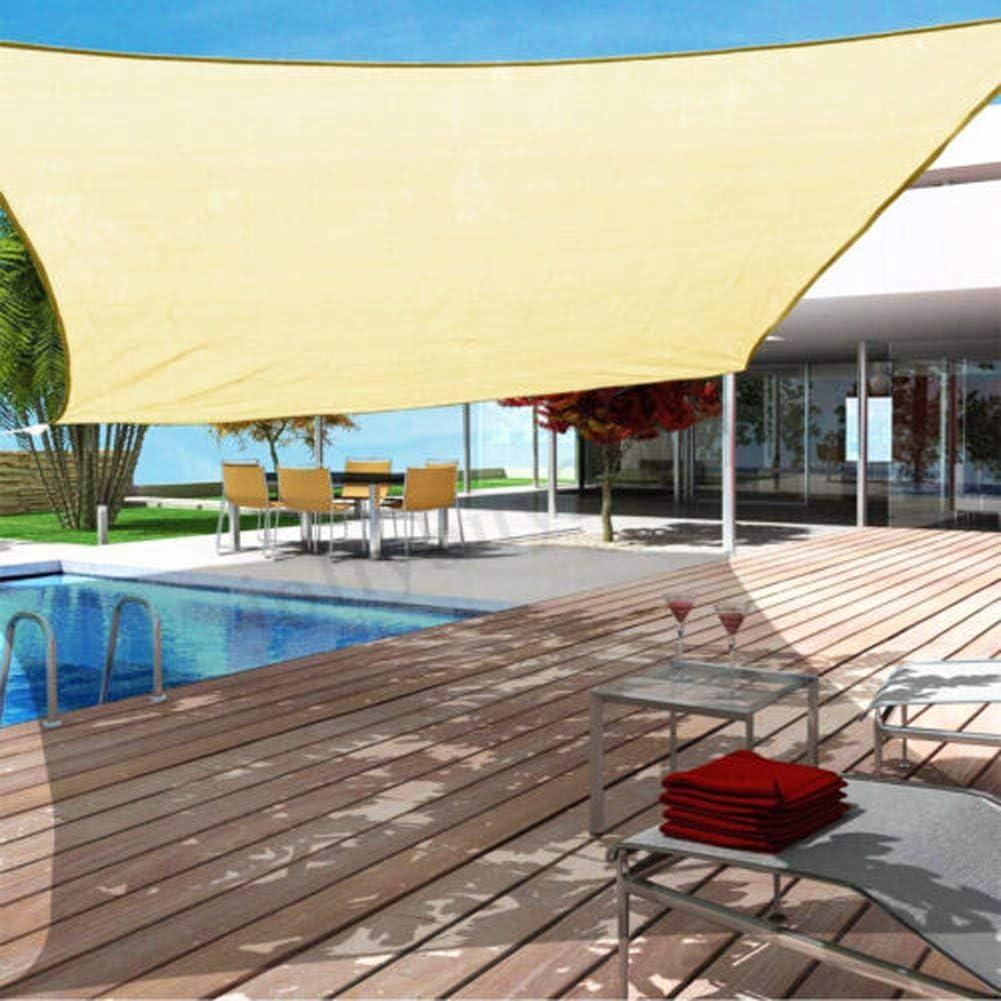 GCDN Sun Shade Sails, protección Solar Impermeable de Secado rápido para el jardín, Refugio Solar, toldo con toldos, Patio de Bloques UV para Exteriores, Piscina, Camping, etc. (3x4m)(3x3m)