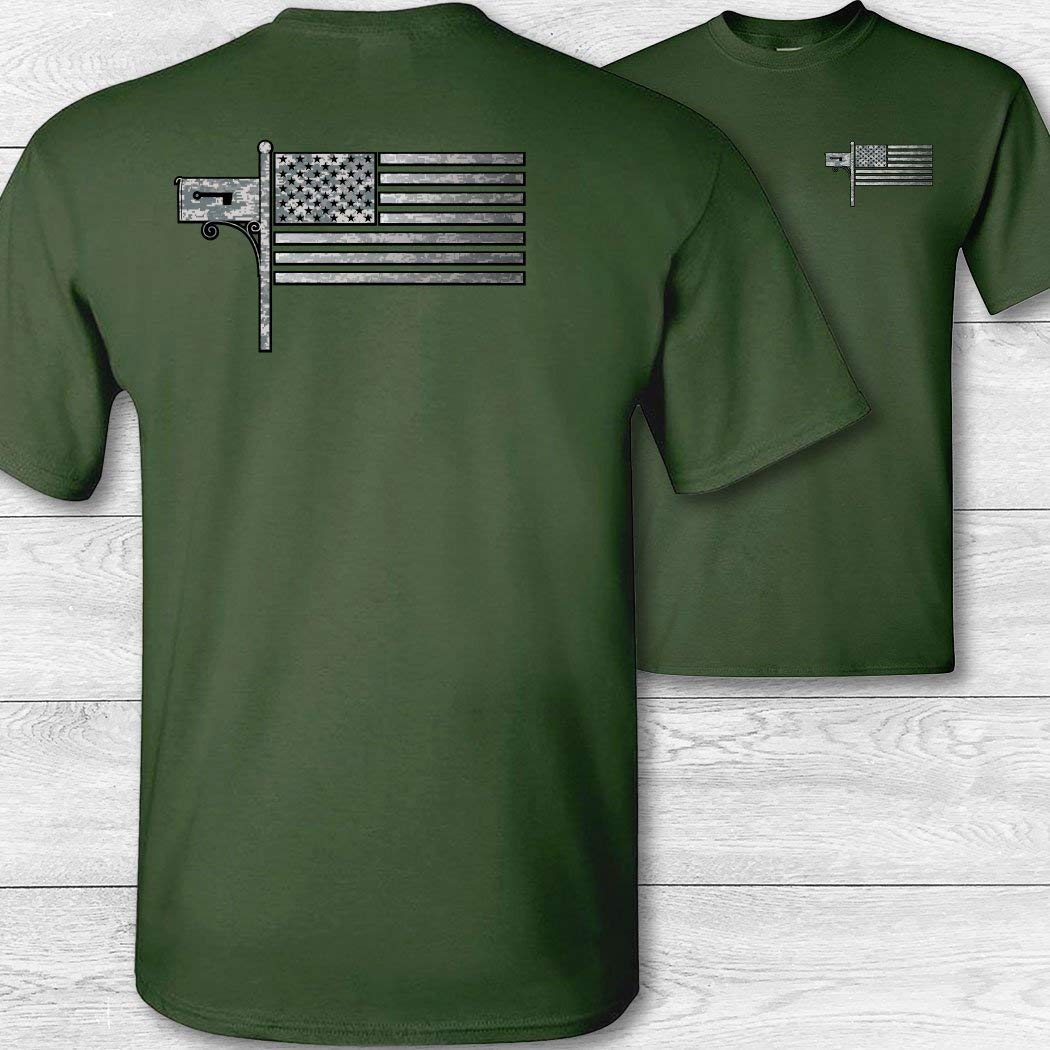 United States Post Office American Flag Mail Carrier T-Shirt