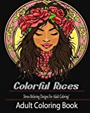 Adult Coloring Book: Colorful Faces:: Stress Relieving Designs for Adult Coloring!