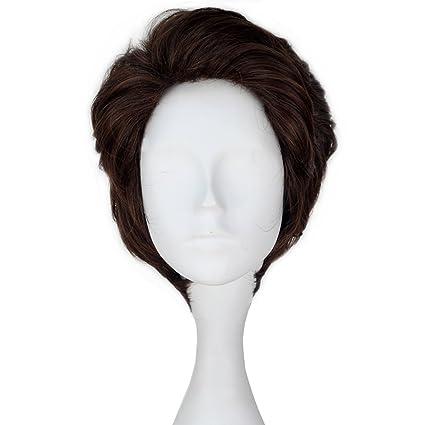 Miss U pelo Prince peluca hombre corto ondulado marrón peluca de pelo cosplay disfraz C177