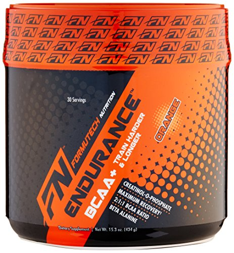 Formutech Nutrition Endurance BCAA Plus, Designed for Training Harder and Longer with Beta Alanine, Orange, 434 Gram