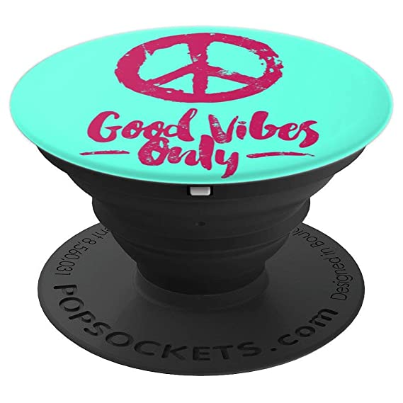 Amazon Good Vibes Only Phone Grip Hippie Symbol Peace N Love