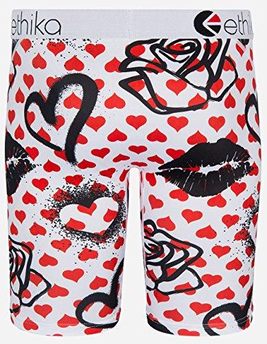 Ethika Love Me Not Staple Boxer Briefs, White/red, Medium by Ethika (Image #2)