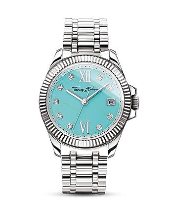 Thomas Sabo Reloj para mujer Devine turquesa WA0317-201-215-33 mm: Amazon.es: Relojes