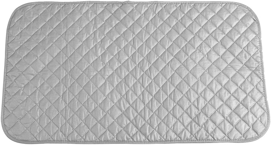 Fdit Ironing Pad?roning Blanket Mat Laundry Pad Gray Quilted Washer Dryer Heat Resistant Pad Iron Board Alternative Cover Portable