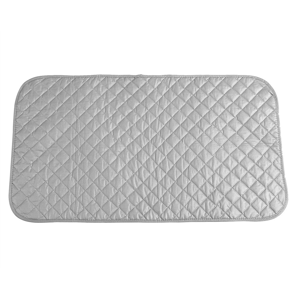 48*85cm Ironing Pad Ironing Blanket Mat Laundry Pad Gray Quilted Washer Dryer Heat Resistant Pad Iron Board Alternative Cover Portable Fdit 4335433131