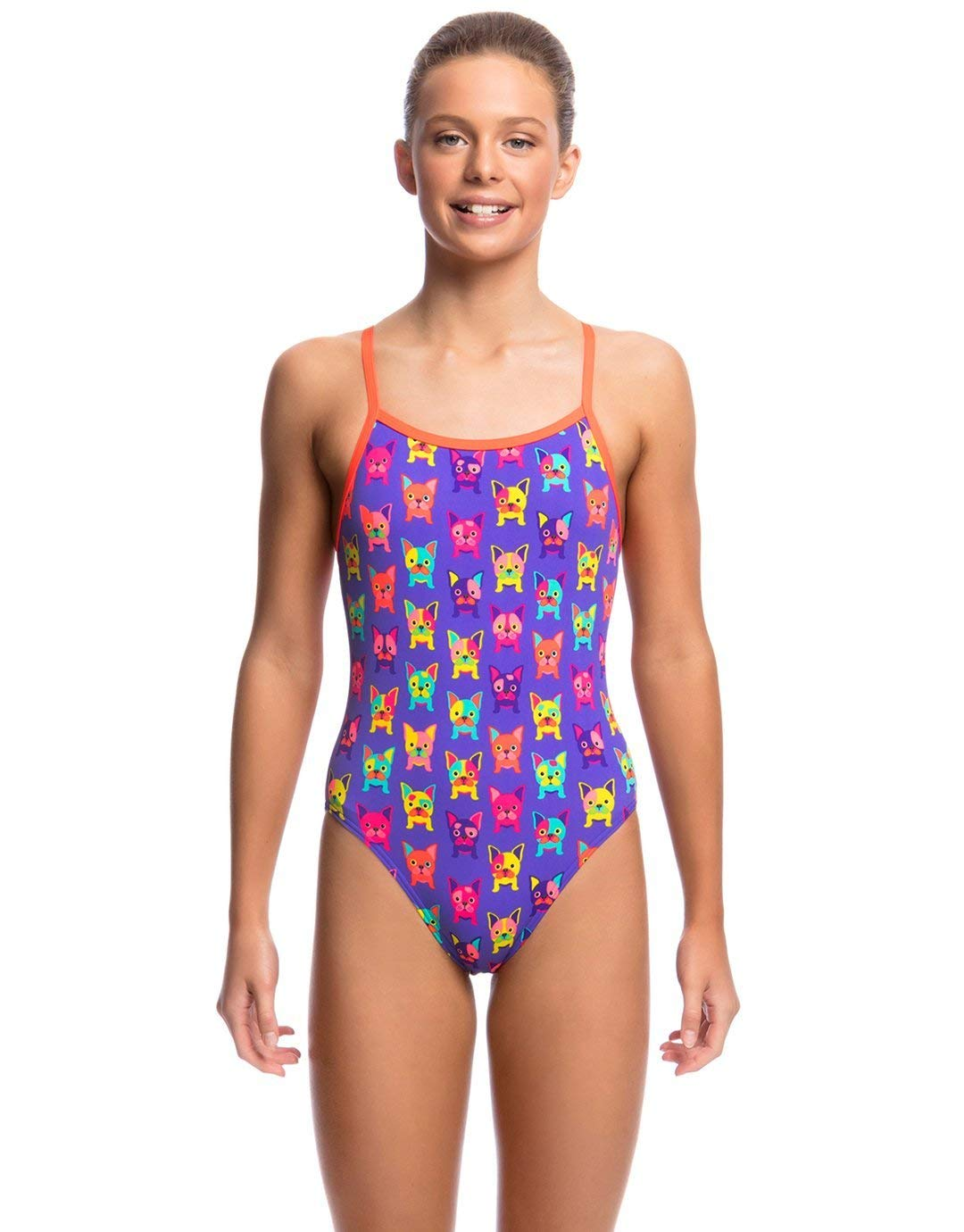 Funkita Girls Pooch Party Single Strap One Piece (12 years