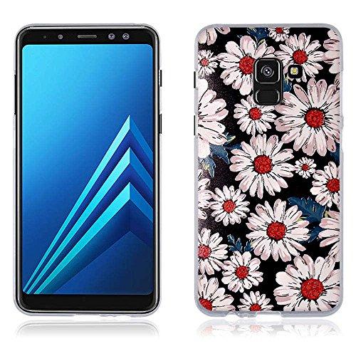 Funda Samsung Galaxy A8(2018) A530F, Carcasa Protectora de Silicona de Calidad Superior -FUBAODA- Decorada con una Simpátic Cebra de Dibujos Animados, Buen Diseño, Elegante y Agradable al Tacto, Resis pic:5