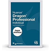 Dragon Professional Individual 15.0 Speech Dictation and Voice Recognition Software [PC Download]