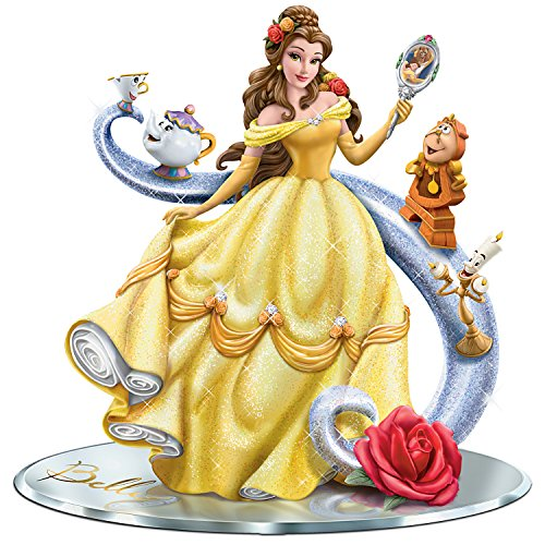 Disney Beauty and the Beast Figurine with Belle and Her Castle Friends by The Hamilton Collection ()
