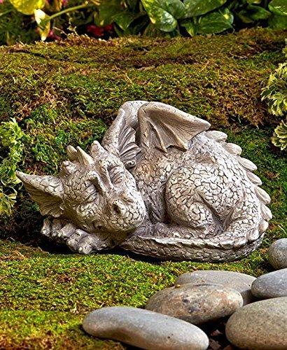 (Dragon Garden Statue Decor Ornament Patio Lawn Yard Outdoor Outside Decoration Figurine Figure Sculpture Porch Deck House Home Art)