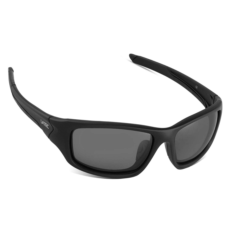 LATEC Gafas de Sol Deportivas Polarizadas Elegear livianas con Proteccion UV400 & Marco TR90 Irrompible para
