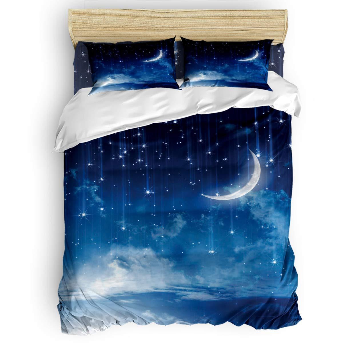 掛け布団カバー 4点セット ビーチ青い海 美しい熱帯海景 寝具カバーセット ベッド用 べッドシーツ 枕カバー 洋式 和式兼用 布団カバー 肌に優しい 羽毛布団セット 100%ポリエステル キング B07TGBMLN4 starry night4LAS4242 キング