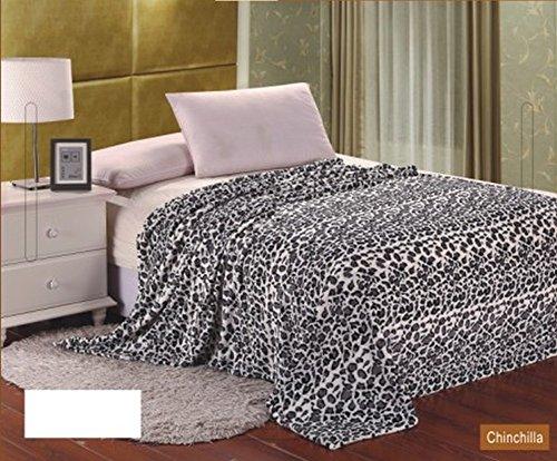 Animal Print Ultra Soft Chincilla King Size Microplush Blanket