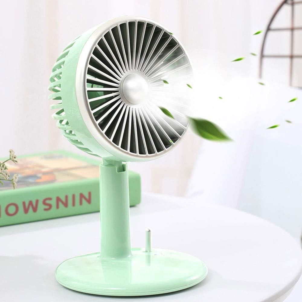 Color : Pink Rotating Mini Fan Office Mute Spray Fan