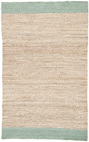 Jaipur Living Mallow Natural Bordered Tan/Blue Area Rug 7'10″X9'10″