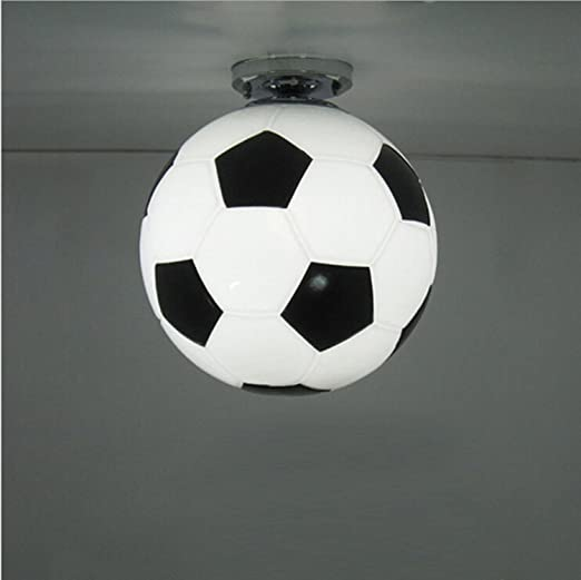 AMZH Fútbol luz de techo Creative sala de niños LED lámparas de ...