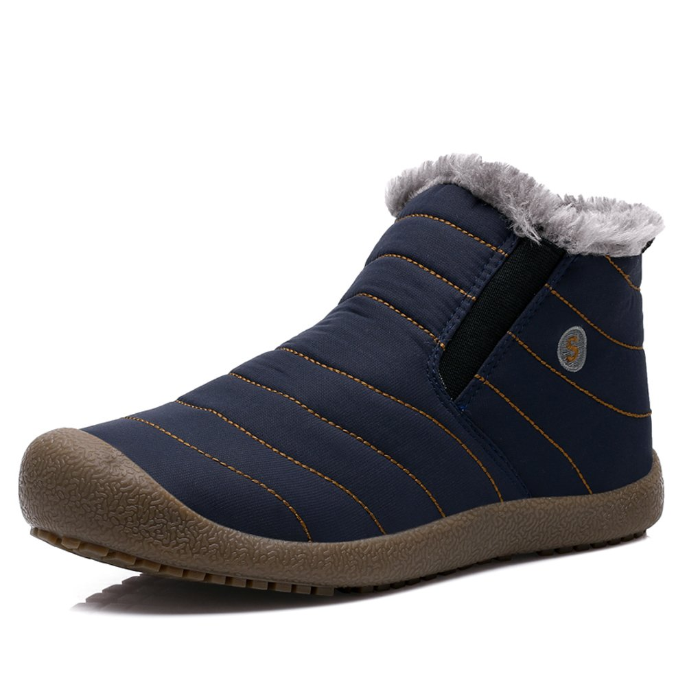 YIRUIYA Mens Anti-Slip Snow Boots with Fully Fur Lined High Top/Low Top Winter Warm Sneakers A08A6811-NEW-CA