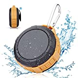 Bluetooth Shower Speaker Hcman Wireless Stereo Outdoor Waterproof Portable Speaker with Micro SD Card Slot,Built-In Mic,5W Driver, Suction Cup,Hands-Free Speakerphone (V1-x)