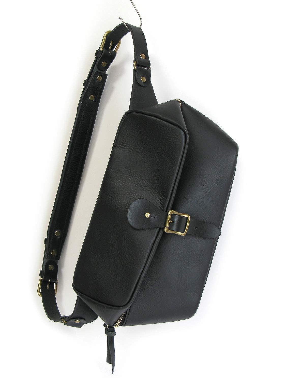 (スオーロ) suolo ARROW leather ボディバッグ B07QM8RK56 ブラック
