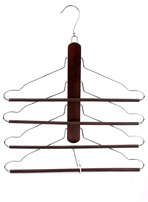 LY-Perchas para trajes Madera multifuncional ropa de madera sólida Toallas Pantalones Pantalones Percheros de