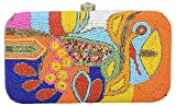 Parizaat by Shadab Khan Women's Clutch Purses for Women Evening Bags (Multicolor, bxmul7439)