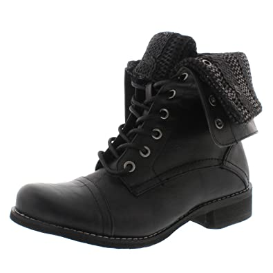 Amazon.com | SoftMoc Women's Bev Lace Up Fold Down Combat Boot | Boots