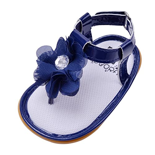 165c2b7d1aec8 BOBORA Baby Girls Flower Princess Crib Toddler Shoes Sandals Newborn  Prewalker Deep Blue 0-6