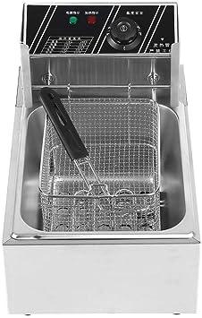 Freidora de 2500 W con cesta de acero inoxidable Material 6L Capacidad Temperatura Cocina freidora 220 V CN Conector: Amazon.es: Bricolaje y herramientas