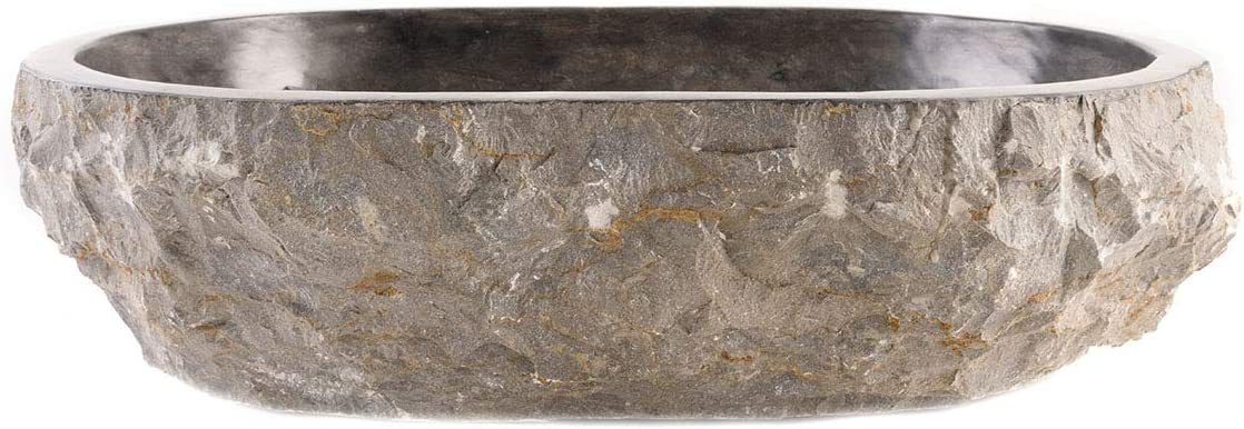 wohnfreuden Marmor Aufsatz-Waschbecken Vale Gr L Naturstein-Waschschale