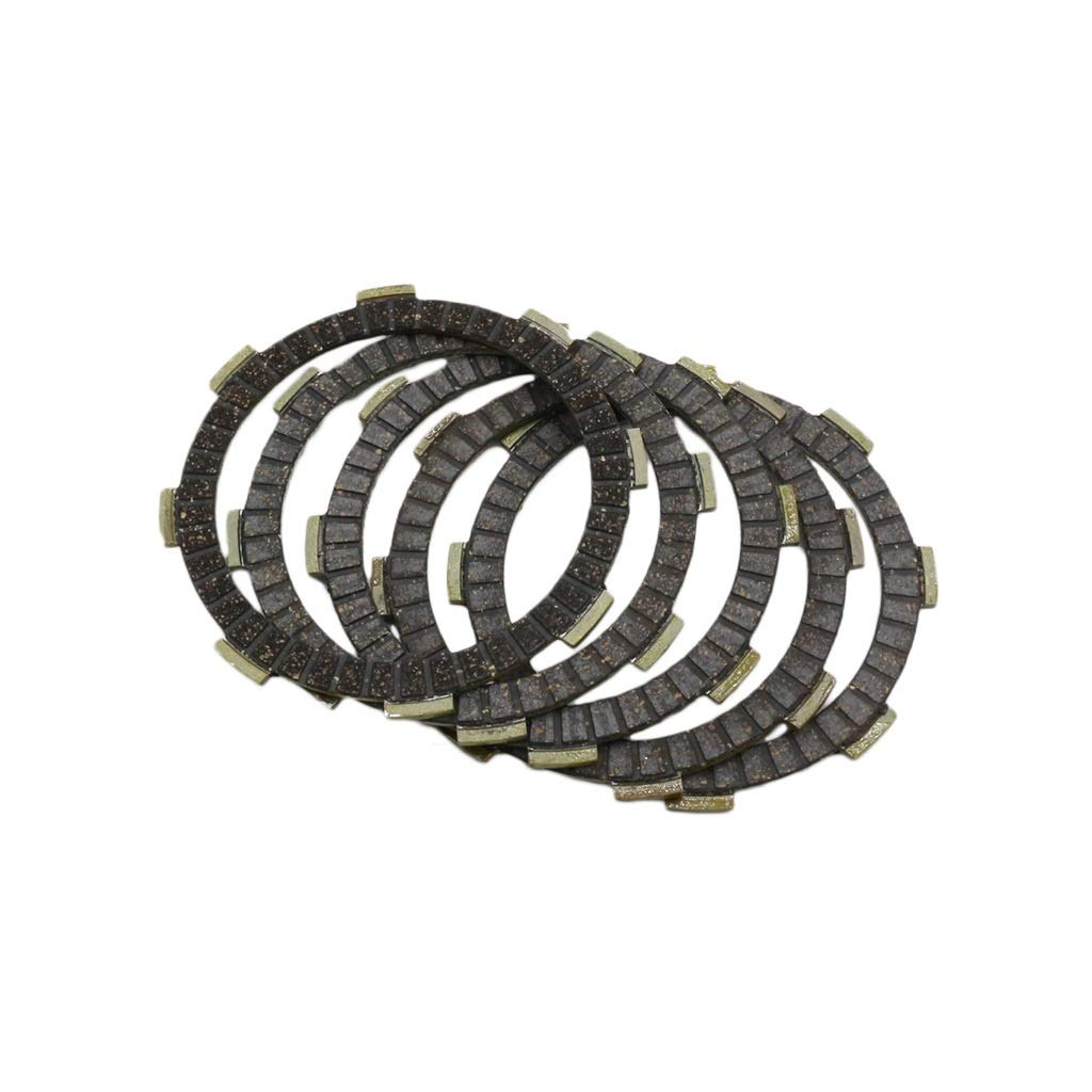 SHENTIANWEI Motorcycle clutch plate CG125 friction plate is highly wear-resistant (Color : Black)