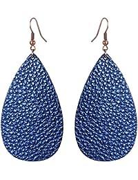 10 Latest Styles ! 100% Real Leather Lightweight Women Earrings Vintage Looks Dangle Drop Earring
