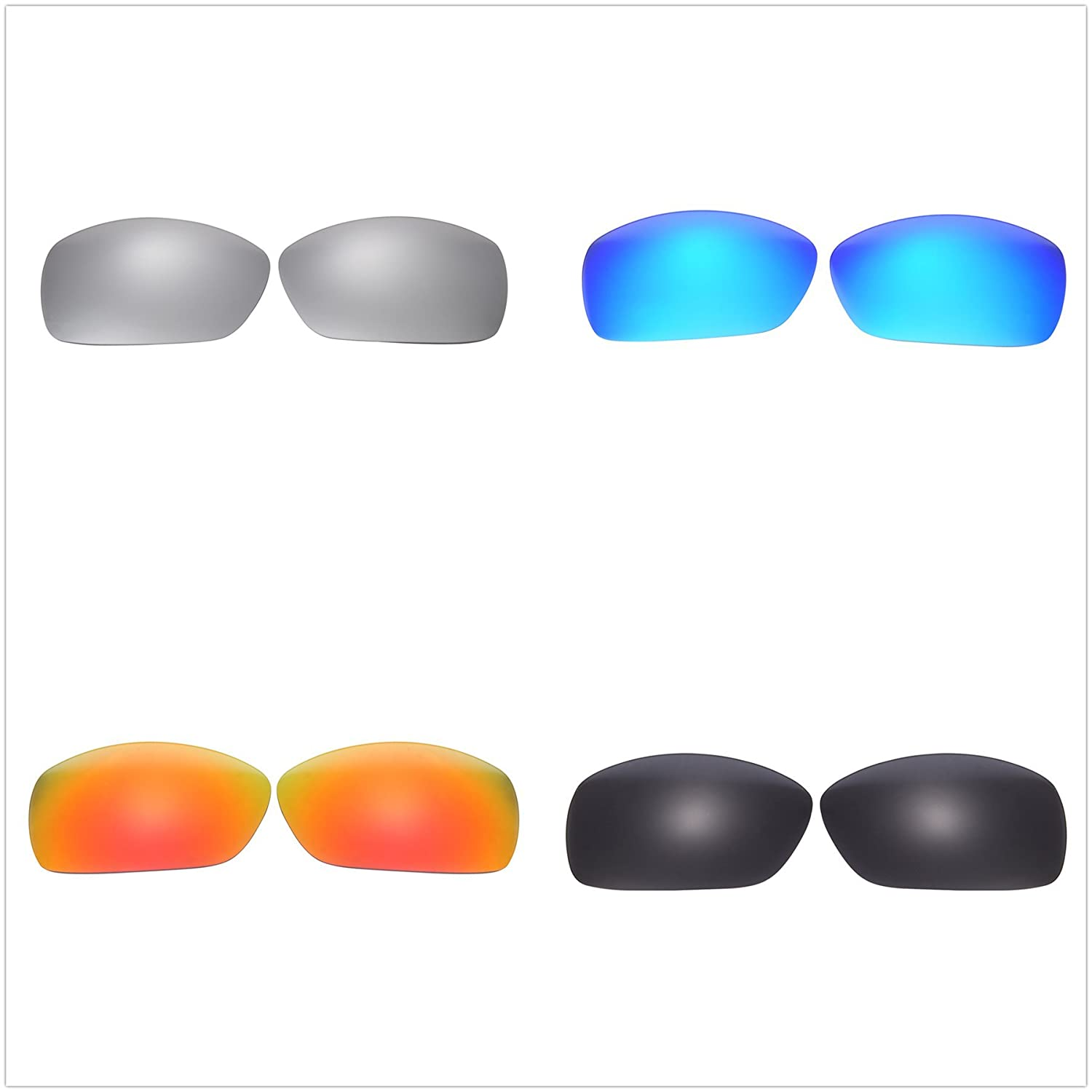5b537457d0 Amazon.com  4 Pairs Polarized Replacement Lenses for Oakley Hijinx  Sunglasses NicelyFit  Clothing