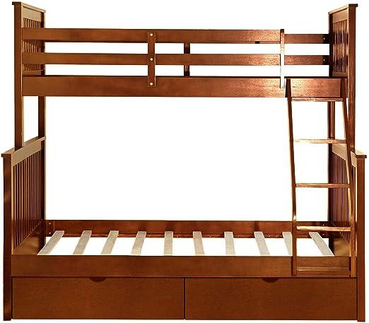 Cheng L Cama litera Doble sobre escaleras con Escalera y Dos cajones de Almacenamiento Cama Doble Marco de la Cama: Amazon.es: Hogar