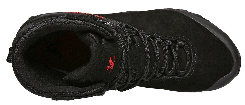 XIANG GUAN Women's Outdoor High-Top Waterproof Trekking Hiking Boots B078SR3VC5 6 M US|Black