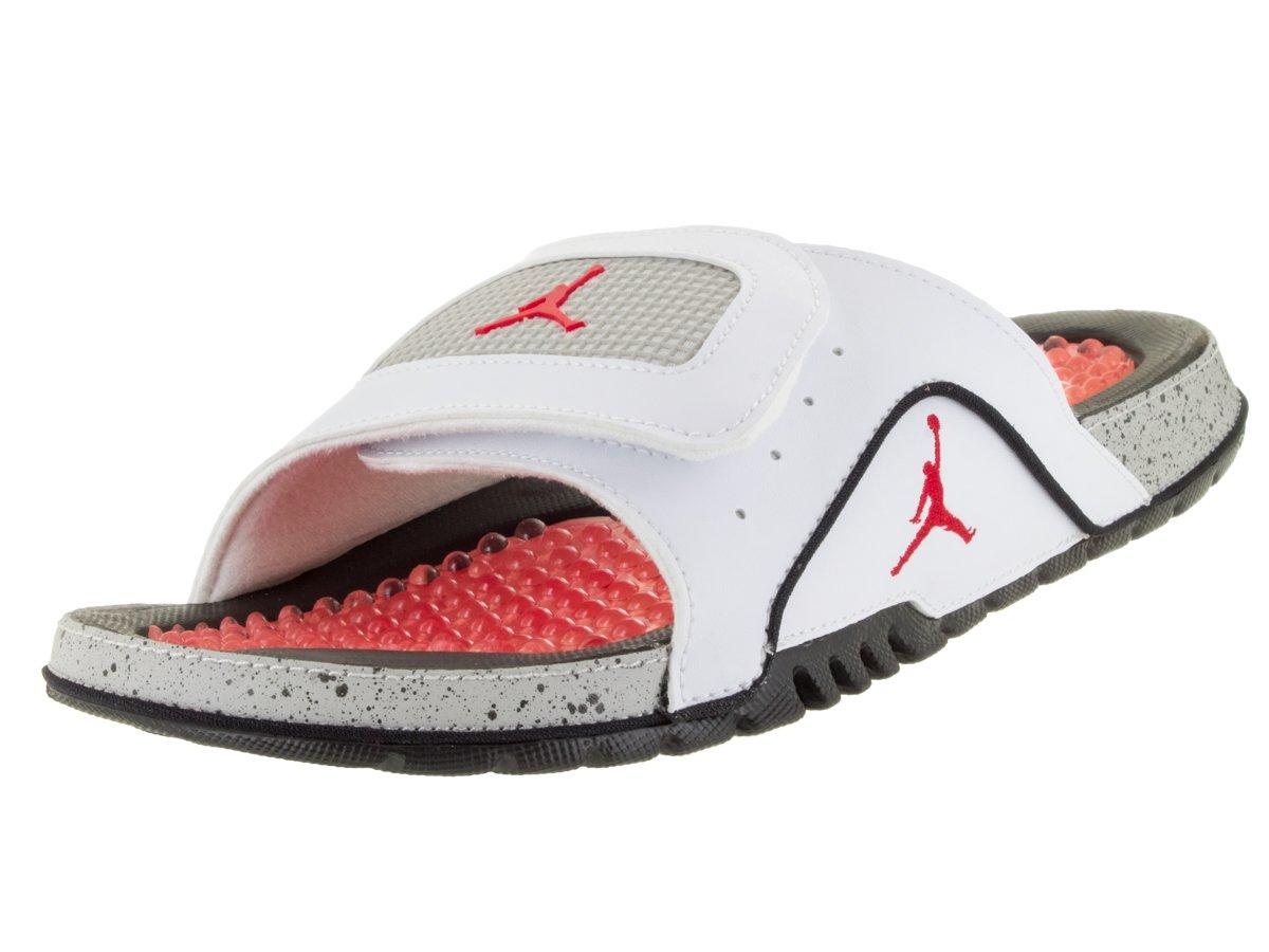 Nike Men's Jordan Hydro IV Retro White/Fire Red/Black/Tech Grey Sandal 14 Men US by Jordan