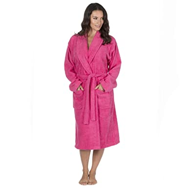 Hari Deals Ladies Pure 100% Cotton Luxury Towelling Bath Robes ...