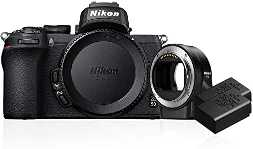 Nikon Z 50 Body with FTZ Adapter and Additional EN-EL25 Battery, Black (859050)