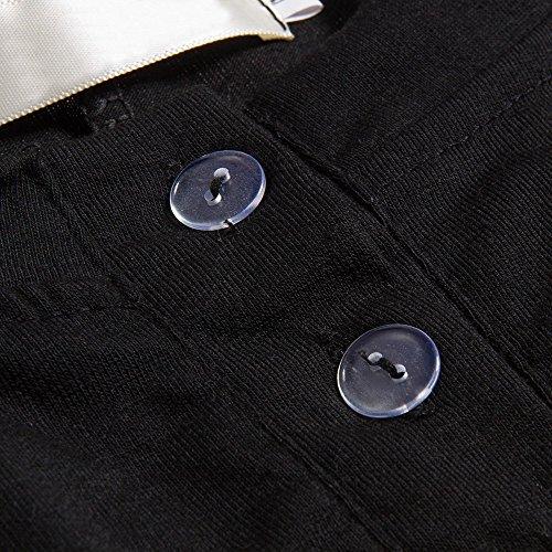 Beauty7 Top de T¨²nica Suelta Manga Media Nueva Falda Irregular Algod¨®n Colores Casual Flexible C¨®modo Suave Vestidos Mujeres Camisa Verano Primavera Oto?o Blanco Rosa Gris Verde Negro Negro