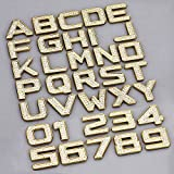 chrome number stickers - Car 3D Letter / Numbers Sticker Emblem Trim Badge Decal Sticker Stainless Zinc Alloy + Shine Crystal Diamond (Color-Gold)