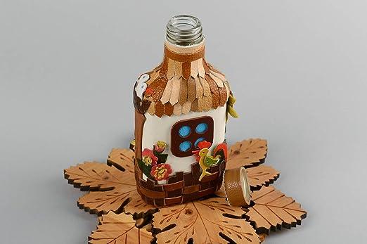 Botella de vidrio decorada hecha a mano objeto de decoracion ...